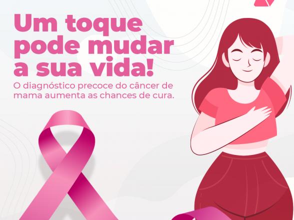 Outubro Rosa: Mês de prevenção do câncer de mama.